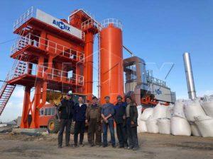 Асфальтобетонный завод 80 тонн в час был отправлен в России