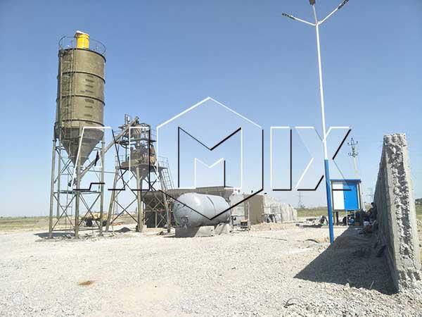 Бетоносмесительный узел в Узбекистане