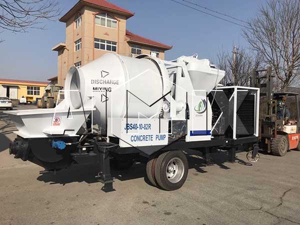 Дизельный бетоносмеситель с насосом JBS40-10-82R был отправлен в Эквадор