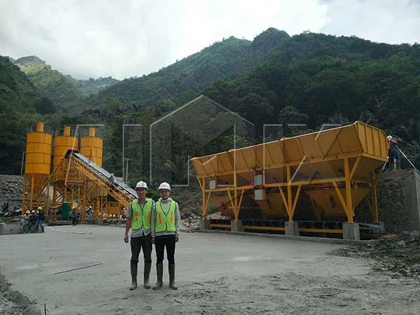 Стационарный бетонный завод установлен в Индонезии
