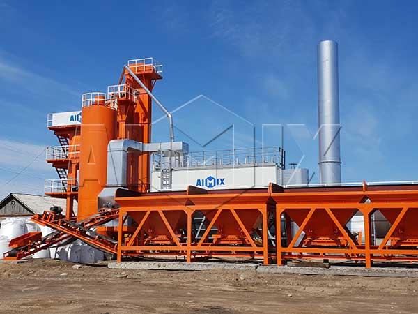 Стационарный асфальтобетонный завод работает в России