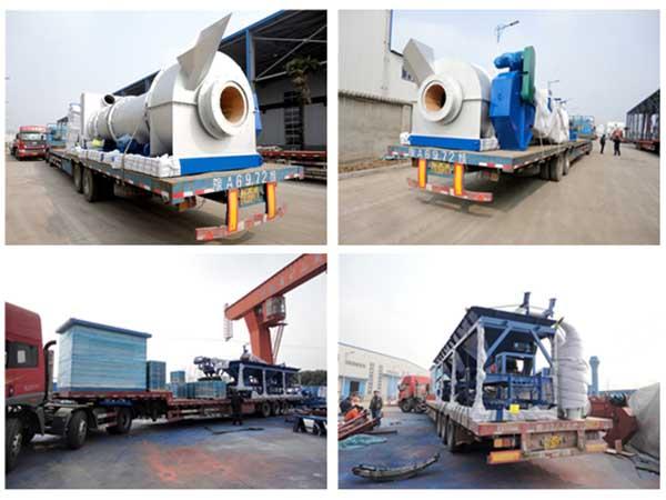 Мобильный асфальтобетонный завод 40 тонн в час был перевезен в Мьянму