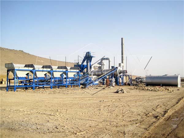 Мобильный асфальтобетонный завод DHB60 в Афганистане