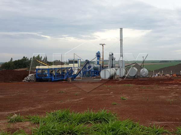 Мобильный асфальтовый завод В Парагвае