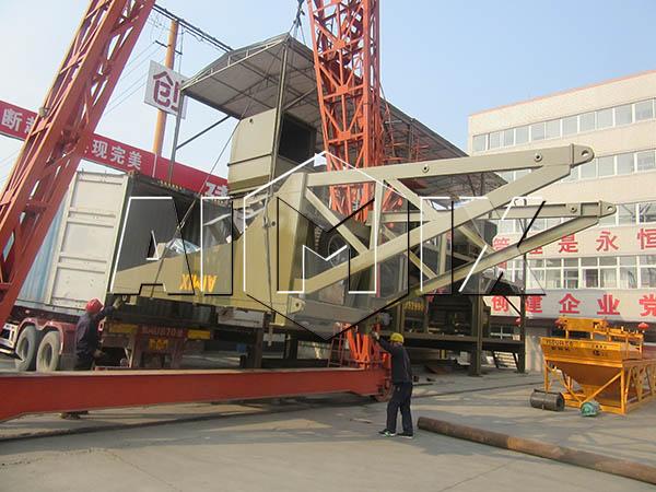 Мобильный бетонный узел был экспортирован на Узбекистан