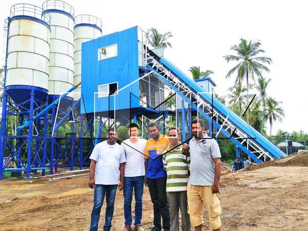 Наш бетоносмесительный завод установлен на Шри-Ланке