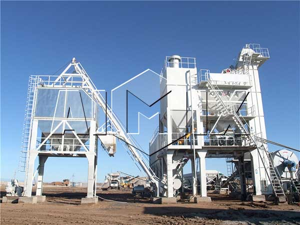 Стационарный асфальтовый завод работает в Казахстане