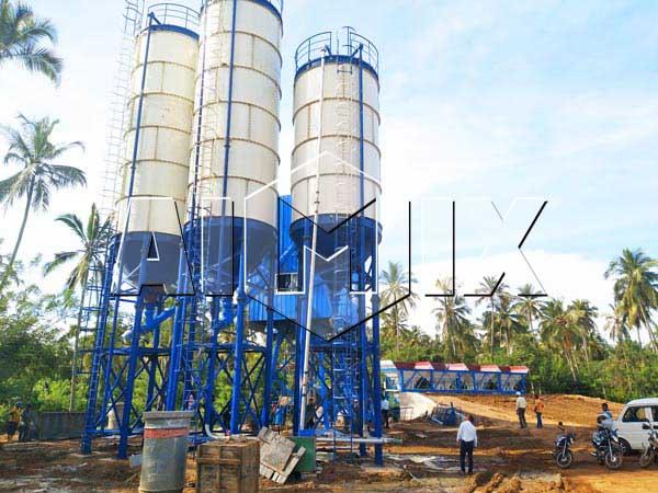 Стационарный бетонный узел в Шри-Ланке