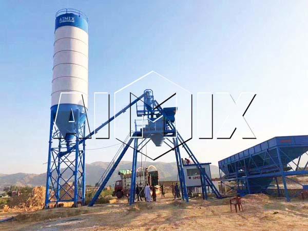 Стационарный бетоносмесительный узел 25 м3/ч на Пакистане