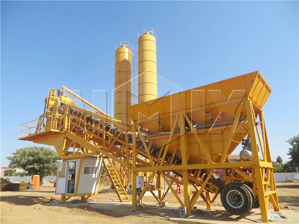Мобильный бетонный завод из Китая
