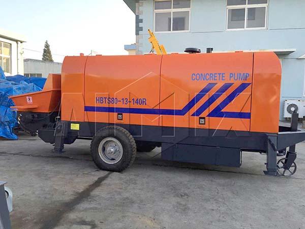 Дизельный прицепной бетононасос HBTS80-13-140R