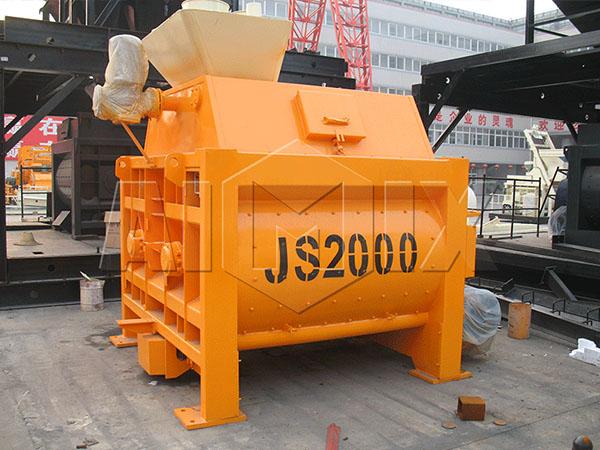 Двухвальный бетоносмеситель серии JS