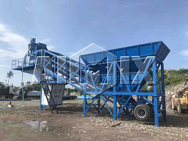 мини передвижной бетонный завод