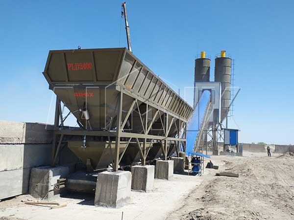 Стационарный бетонный завод 90 м3/ч в Узбекистане