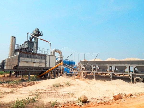 Мобильный асфальтный завод 80 тонн в час