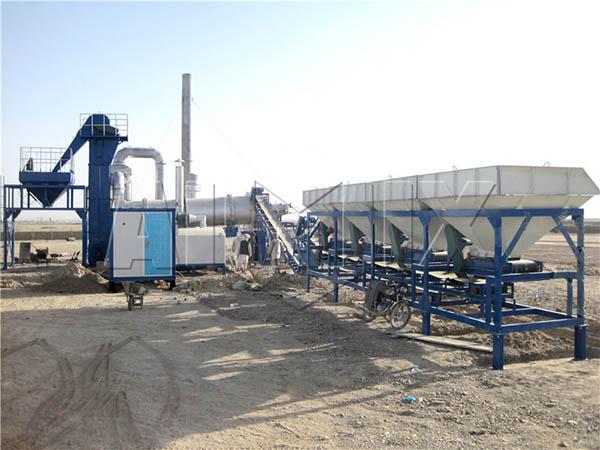 Мобильный асфальтовый завод 40 тонн в час