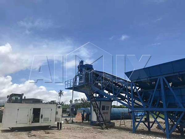 Мобильный бетонный завод 35 м3/ч