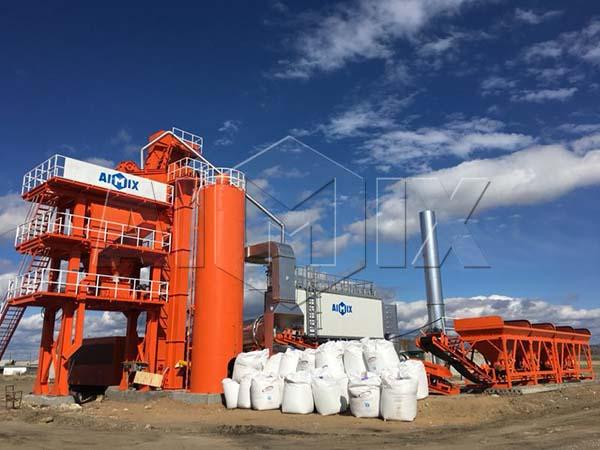 Стационарный асфальтный завод 80 тонн в час