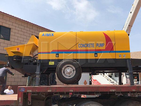 Прицепной бетононас 90 м3/ч был продажи на Таджикистан