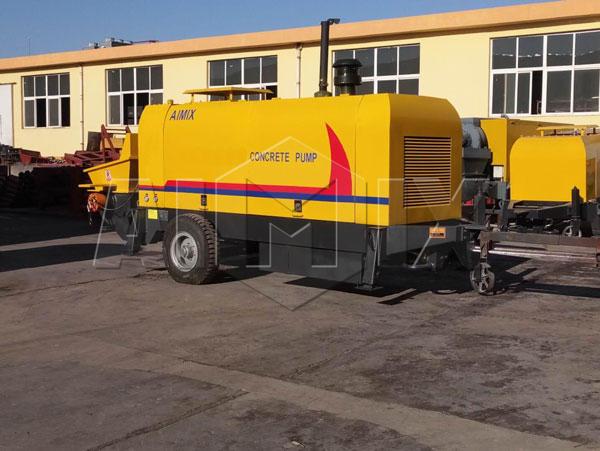 Прицепной бетононас был отправлен на Казахстан