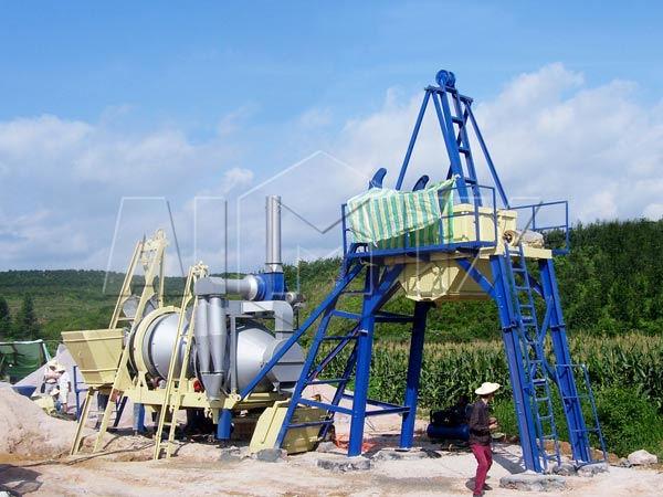 Мобильный асфальтовый завод 20 тонн в час