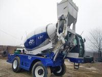 Узбекистан: Самозагружающийся бетоносмеситель