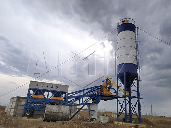 Передвижной бетонный завод в Узбекистане