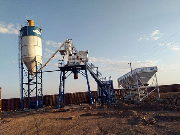 Мини бетонный завод в Узбекистане