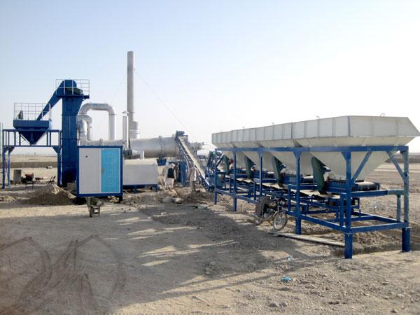 Мобильный асфальтный завод в Афганистане