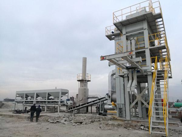 Мобильный асфальтобетонный завод в Таджикистане