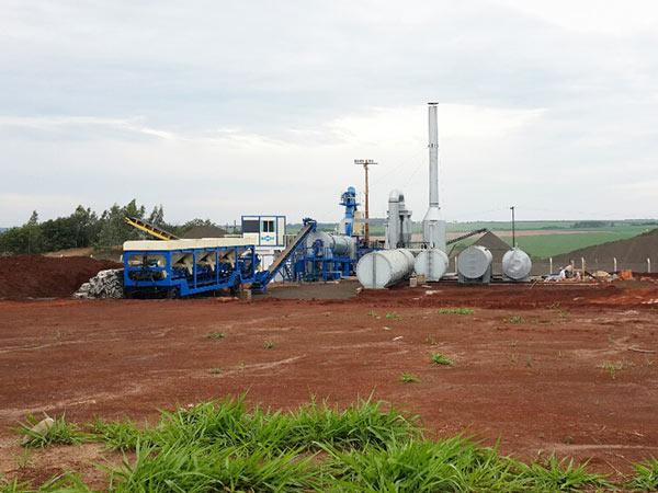 Мобильный асфальтовый завод в Уругвае