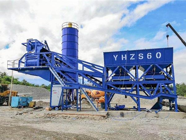 Мобильный бетонный завод 60 м3/ч