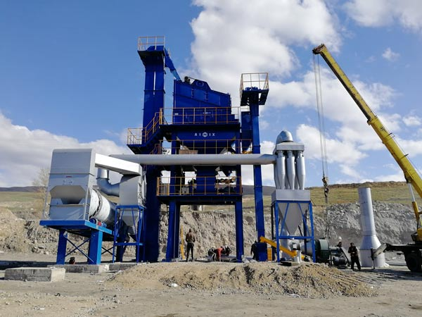 Стационарный асфальтобетонный завод в Кыргызстане