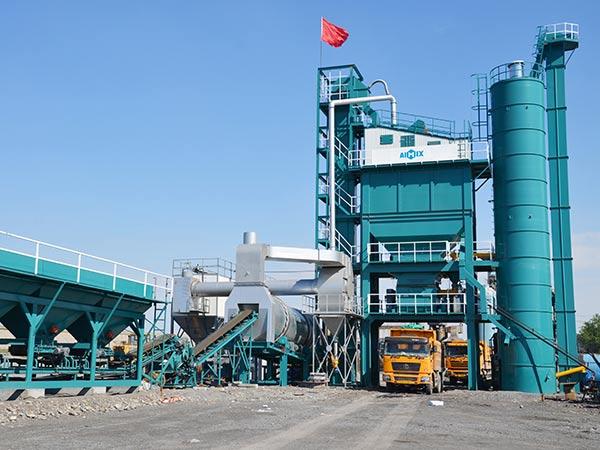 Стационарный асфальтобетонный завод в Пакистане