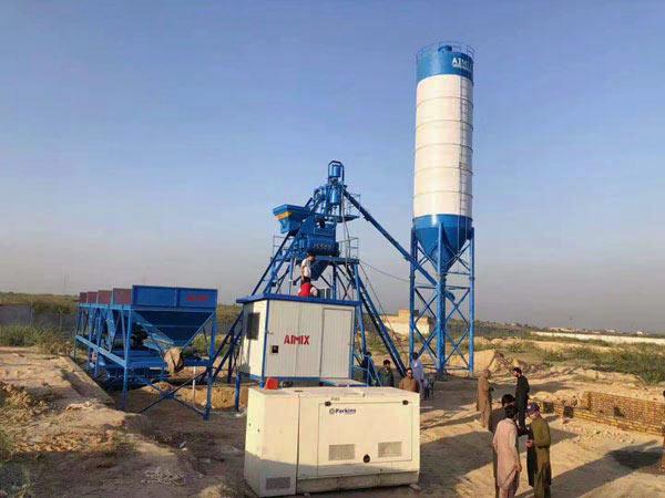 Стационарный бетонный завод в Пакистане