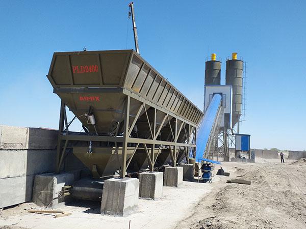 Стационарный бетонный завод в Узбекистане